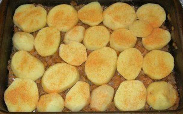 Запеканка из картофеля с мясным фаршем