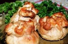 мешочек с сыром и грибами