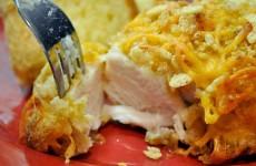 запеченная-курица-с-воздушным рисом-и-сыром