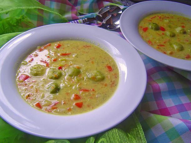 овощной суп с кокосовым молоком