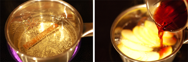 Фруктово-пряный согревающий чай