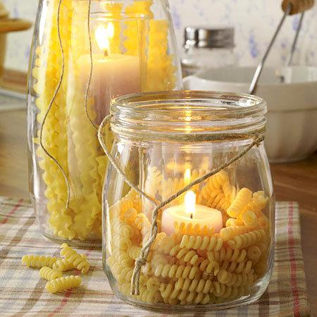 декорируем кухню свечами