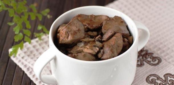 куриная-печень-с-грибами