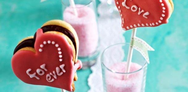 печенье-сердце на День-Святого-Валентина